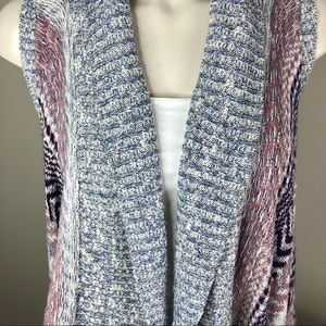 Cardigan Open Front Sweater M ABSOLUTELY FAMOUS